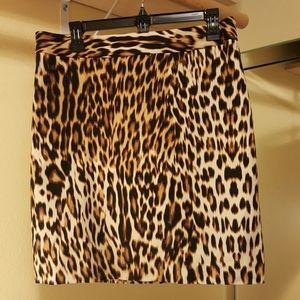 Leopard skirt size 8